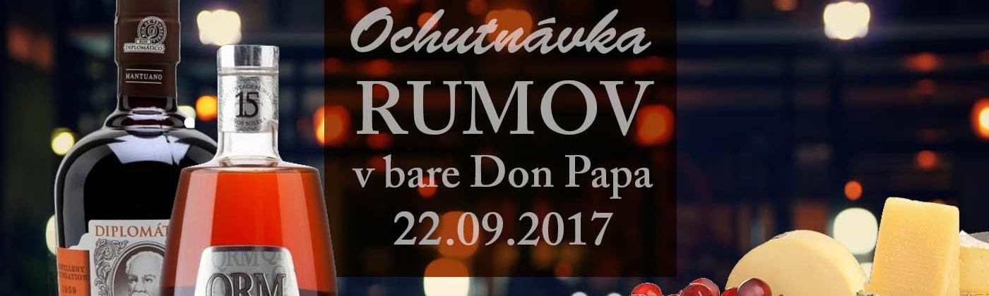Degustácia rumov 22.9.2017