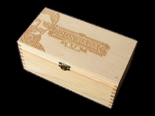 Box Don Papa vodorovne - naturál gravír