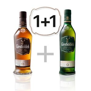 AKCIA: Glenfiddich 18 YO + Glenfiddich 12 YO