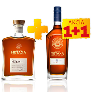 AKCIA 1+1: Private Reserve GB + Metaxa 12* GB