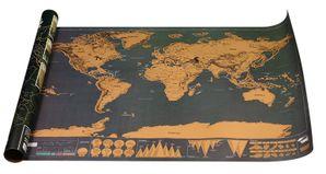 Cestovateľská stieracia mapa sveta Deluxe