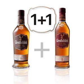 AKCIA: Glenfiddich 18 YO GB + Glenfiddich 15 YO GB