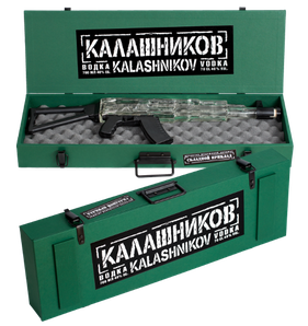 Kalashnikov Vodka Machine Gun AK Wooden Box 0.70L GB