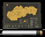 Slovensko - Stieracia vlastivedná mapa
